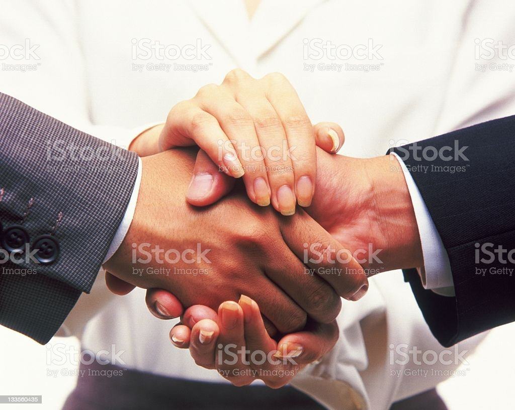 three person and consent royalty-free stock photo