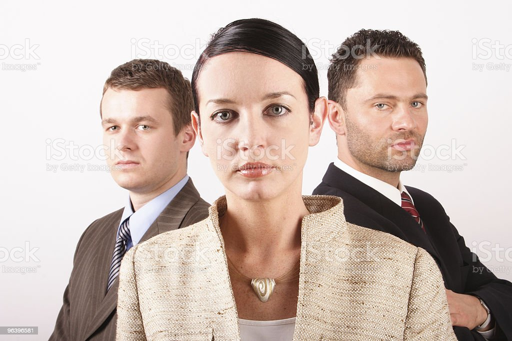 Three persons business team 3 - close up - Royalty-free Adult Stock Photo