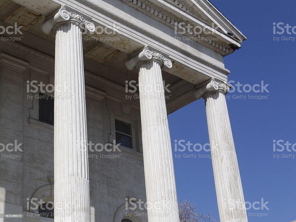 Three Pillars royalty-free stock photo