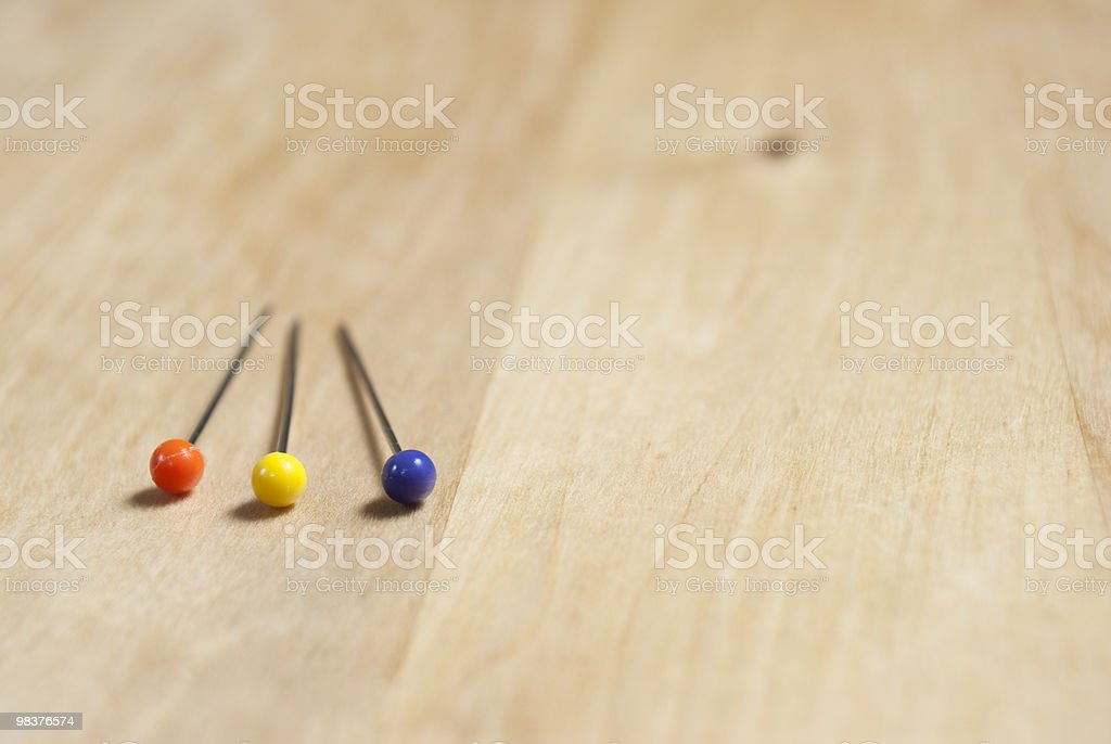 Three Pins - Closeup royalty-free stock photo