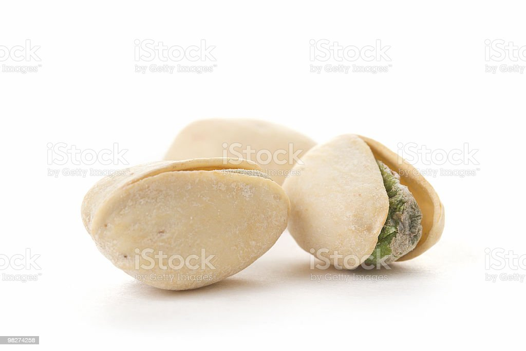 Three Pistachios royalty-free stock photo
