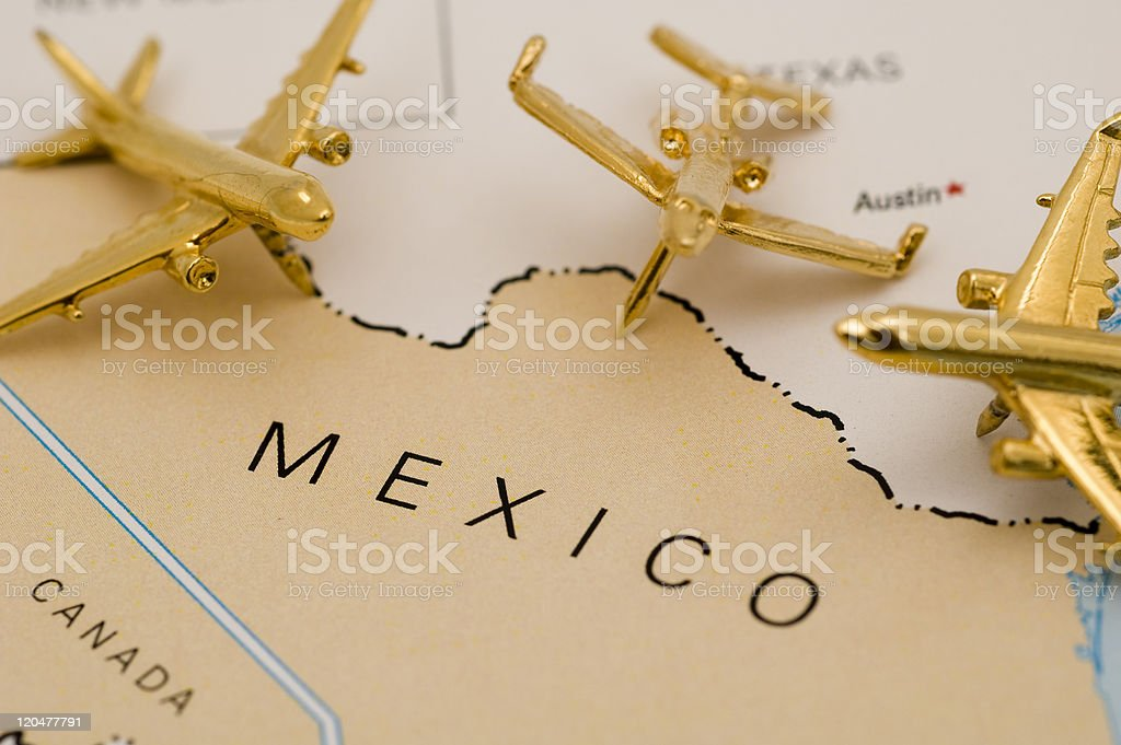 Three Planes Over Mexico stock photo