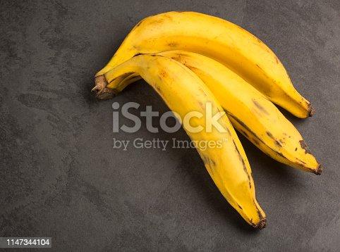 Three plantain banana - Musa x paradisiaca