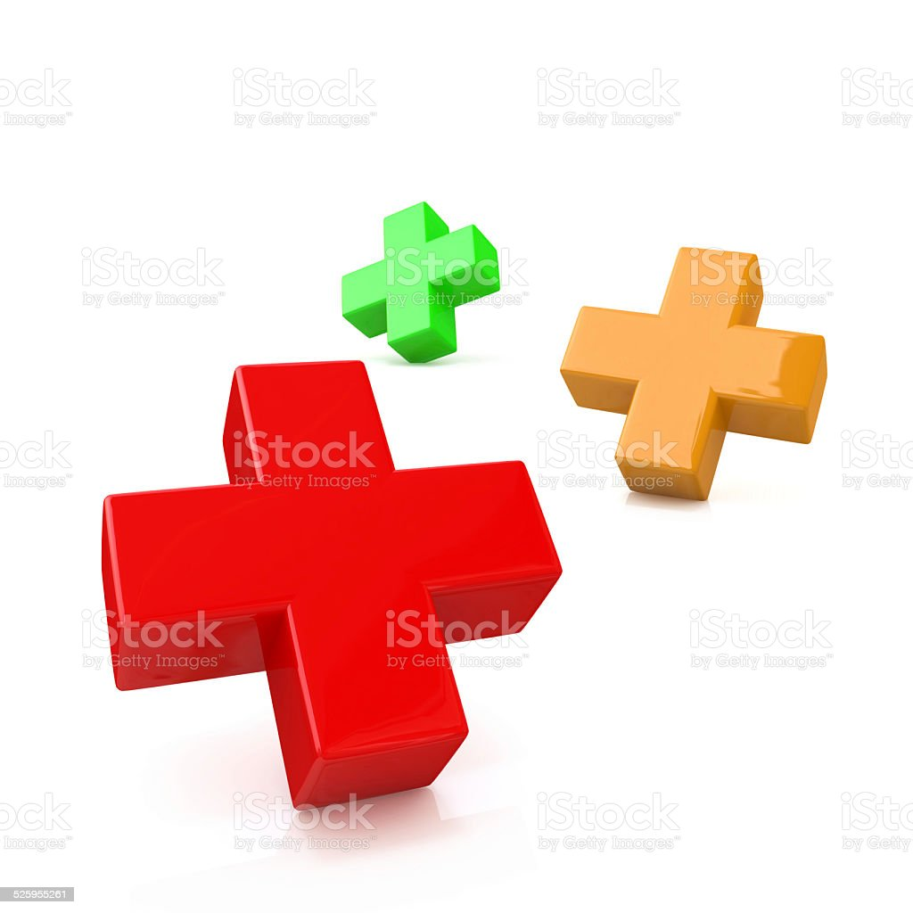 three plus stock photo