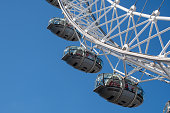 London  United Kingdom  -13 May 2019:  Three Pods on London Eye