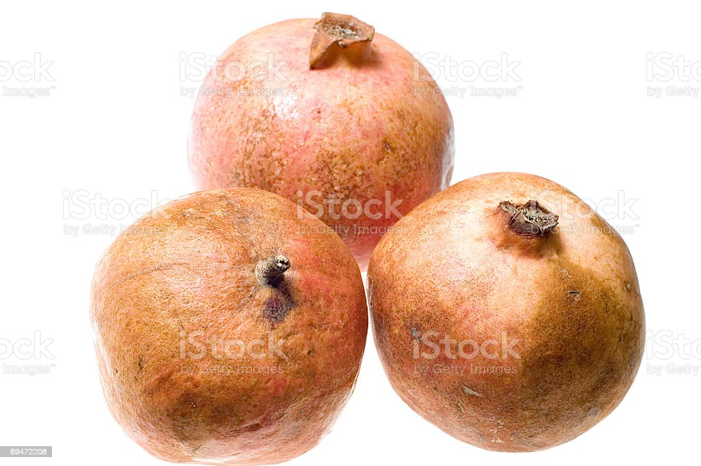 Three pomegranate royalty-free stock photo