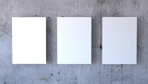 maquette de l'affiche trois - affiche photos et images de collection