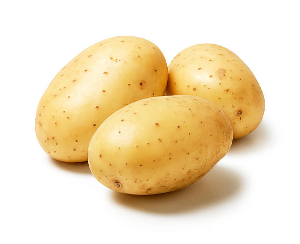 three Potatoes stock photo
