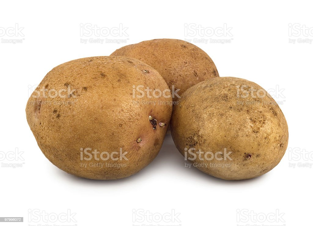 Three potatoes royalty free stockfoto