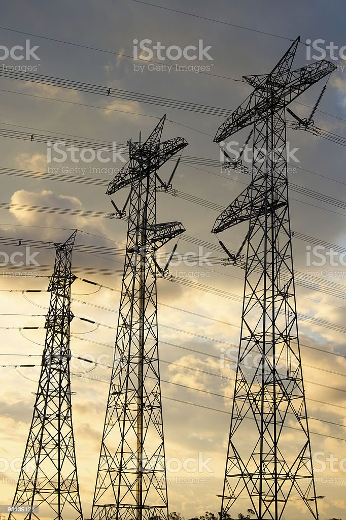 Three Power Towers royalty-free stock photo