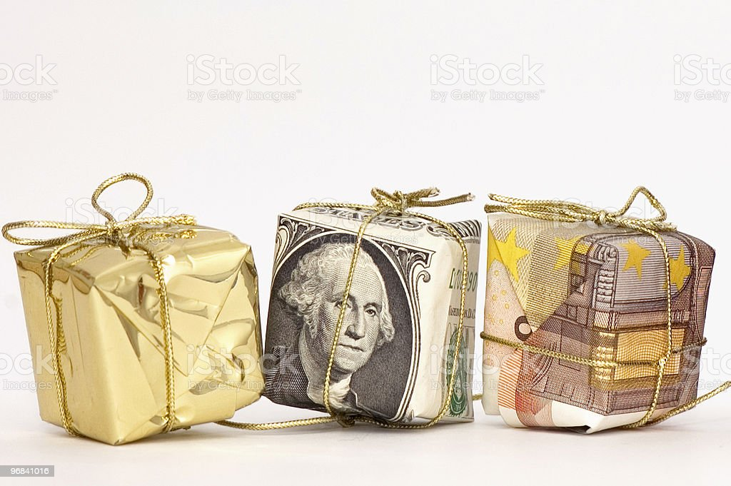 Three Presents royalty-free stock photo