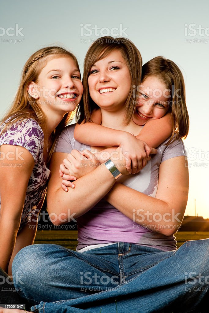 Three Pretty Girls royalty-free stock photo