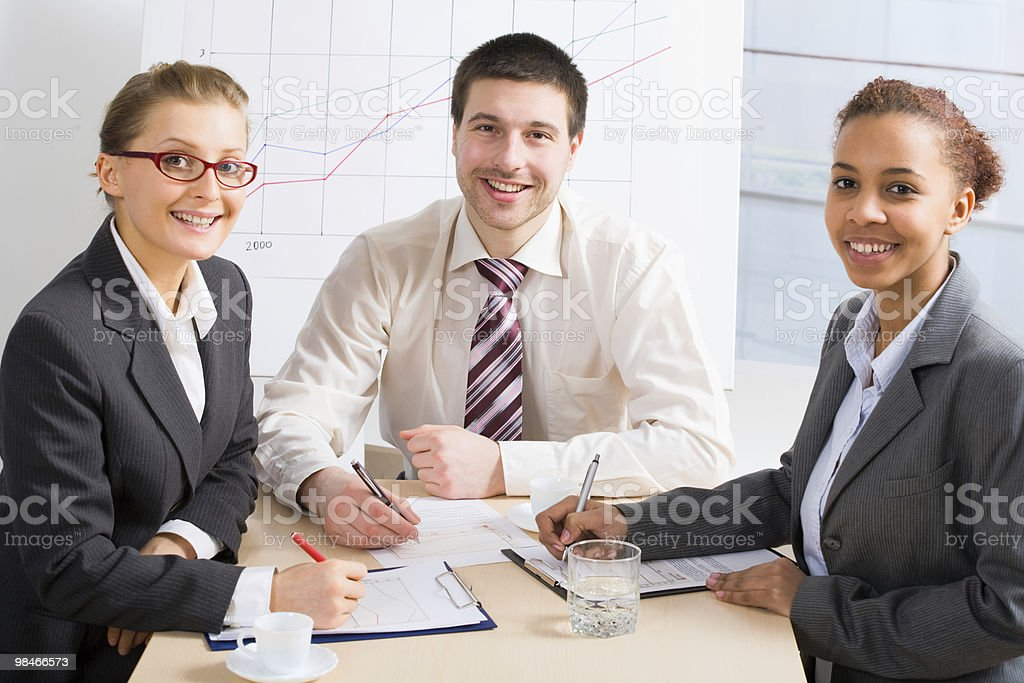 Three professionals royalty-free stock photo