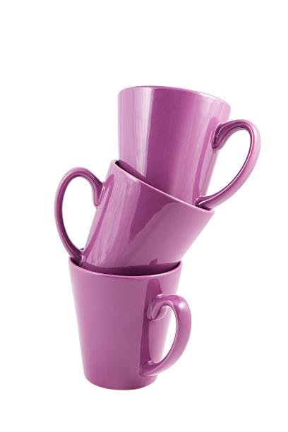 3 퍼플 컵 - 커피 마실 것 뉴스 사진 이미지