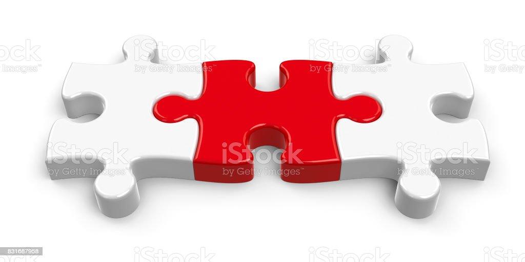 Three puzzle pieces #2 stock photo