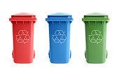 istock Three recycle bins 163648254