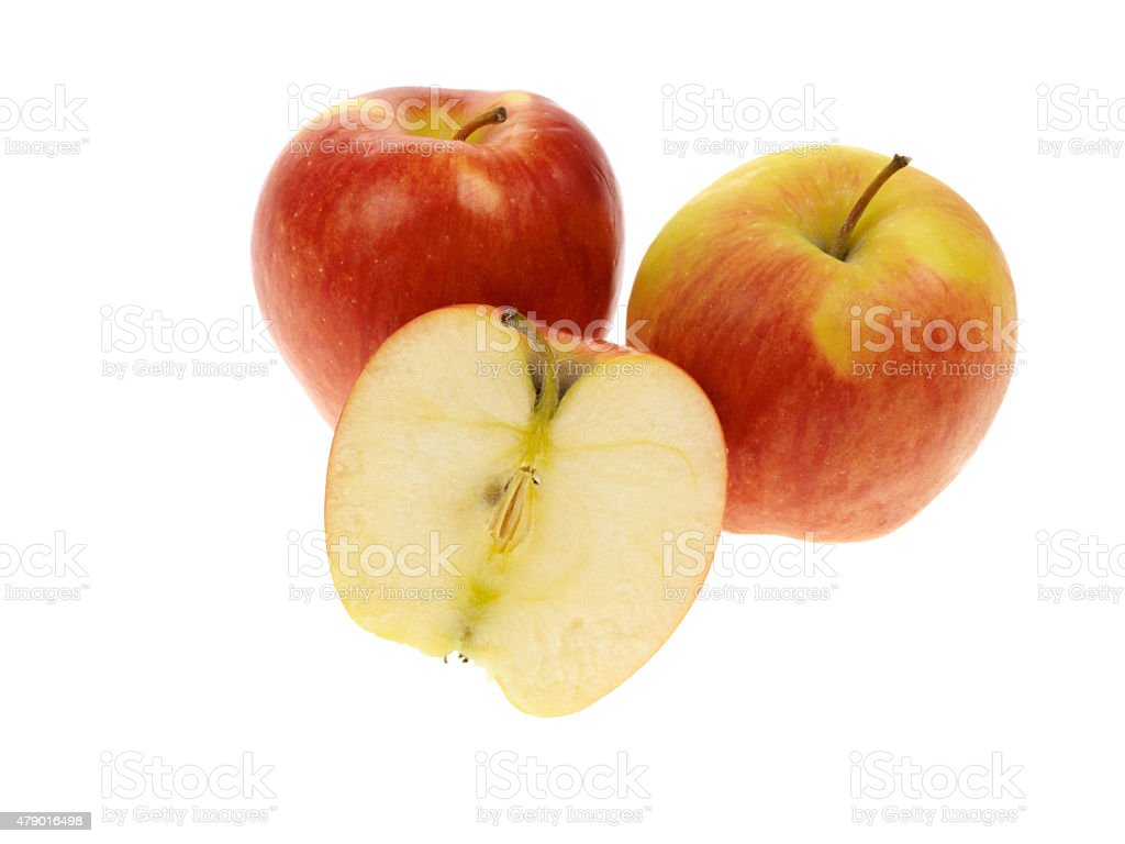 Trzy czerwone Ambrosia Jabłka – zdjęcie