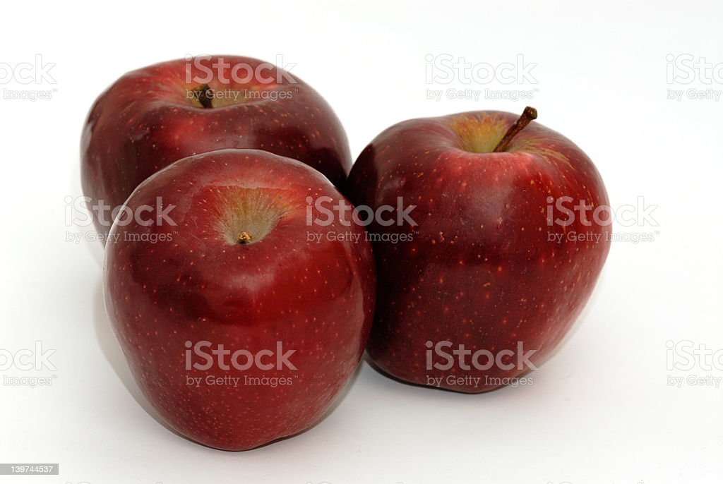 Three red apples royalty-free stock photo