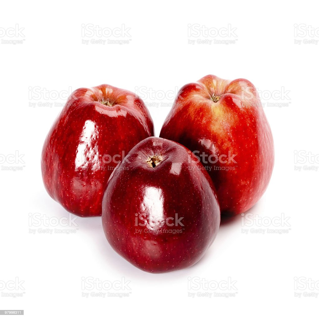three red apples royalty free stockfoto