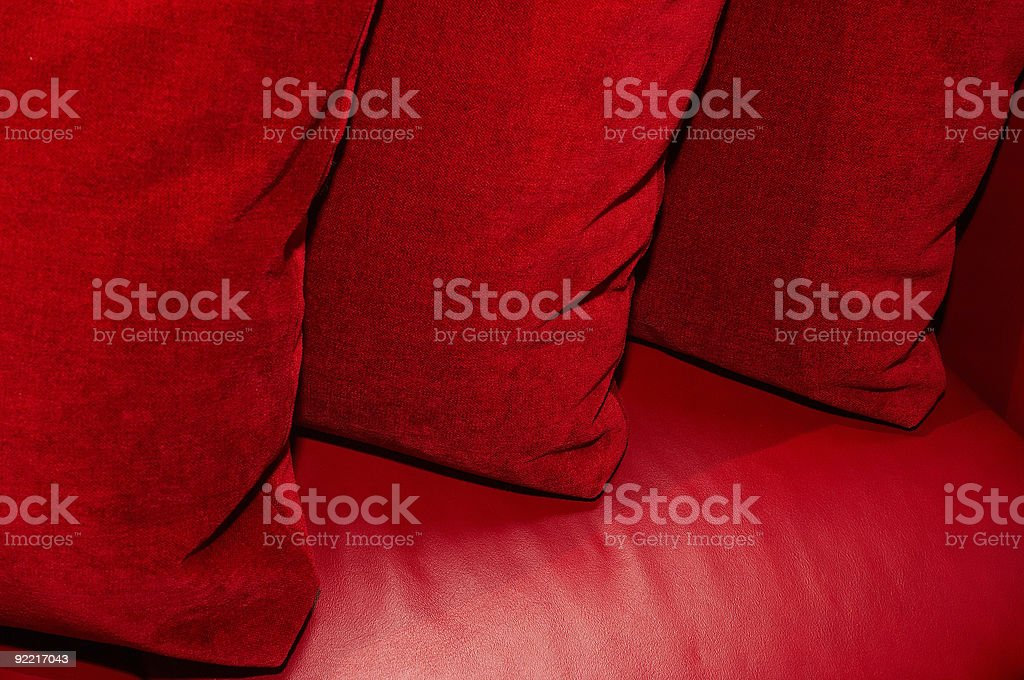 three red pillow royalty-free stock photo