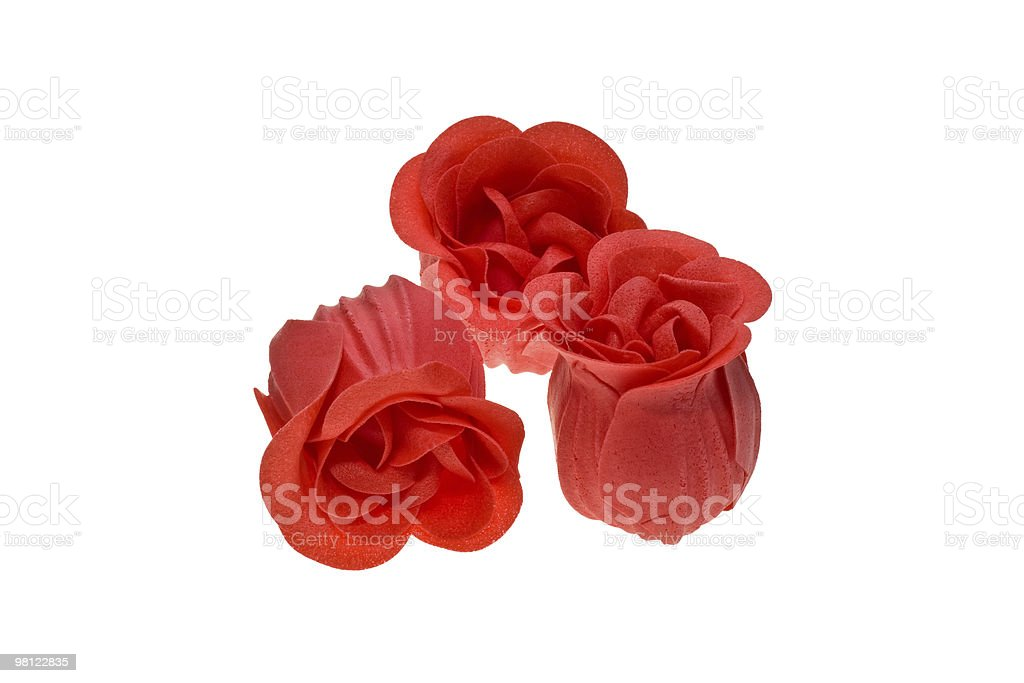 three red roses royalty-free stock photo