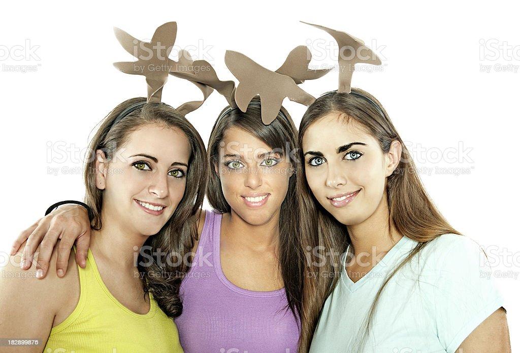 three reindeer royalty-free stock photo