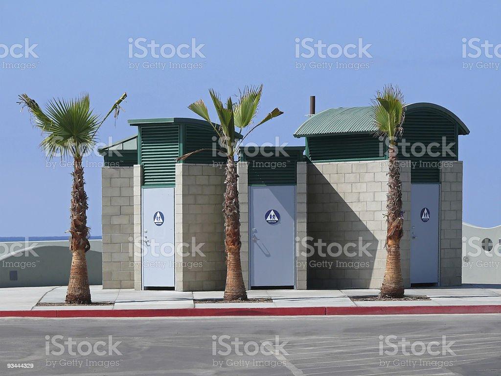 Drei Toiletten Kabinen Lizenzfreies stock-foto
