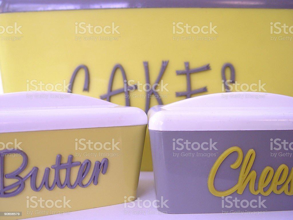 Three retro canisters royalty-free stock photo