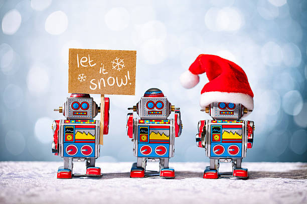 2021 Christmas Robot 119 Christmas Robot Retro Revival Santa Claus Stock Photos Pictures Royalty Free Images