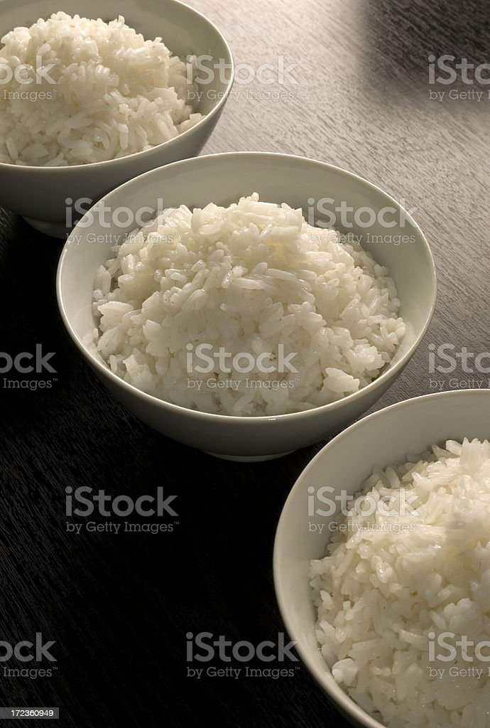 Three rice bowls royalty-free stock photo