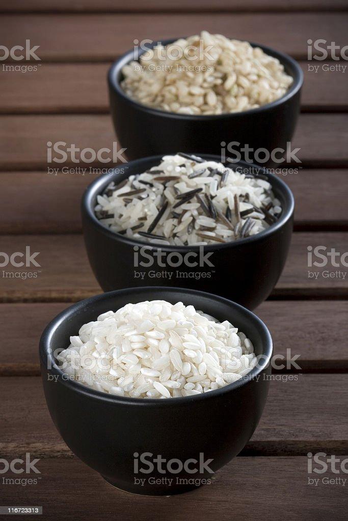 Three rices royalty-free stock photo