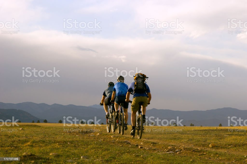 Three Riders stock photo