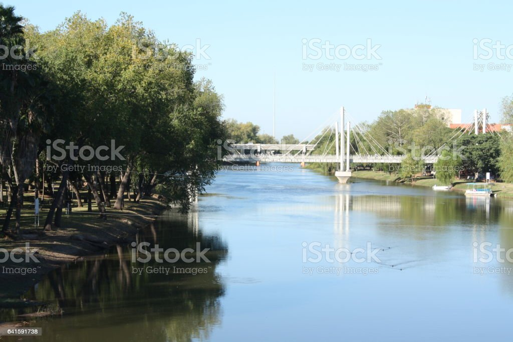 Puente tres rios stock photo