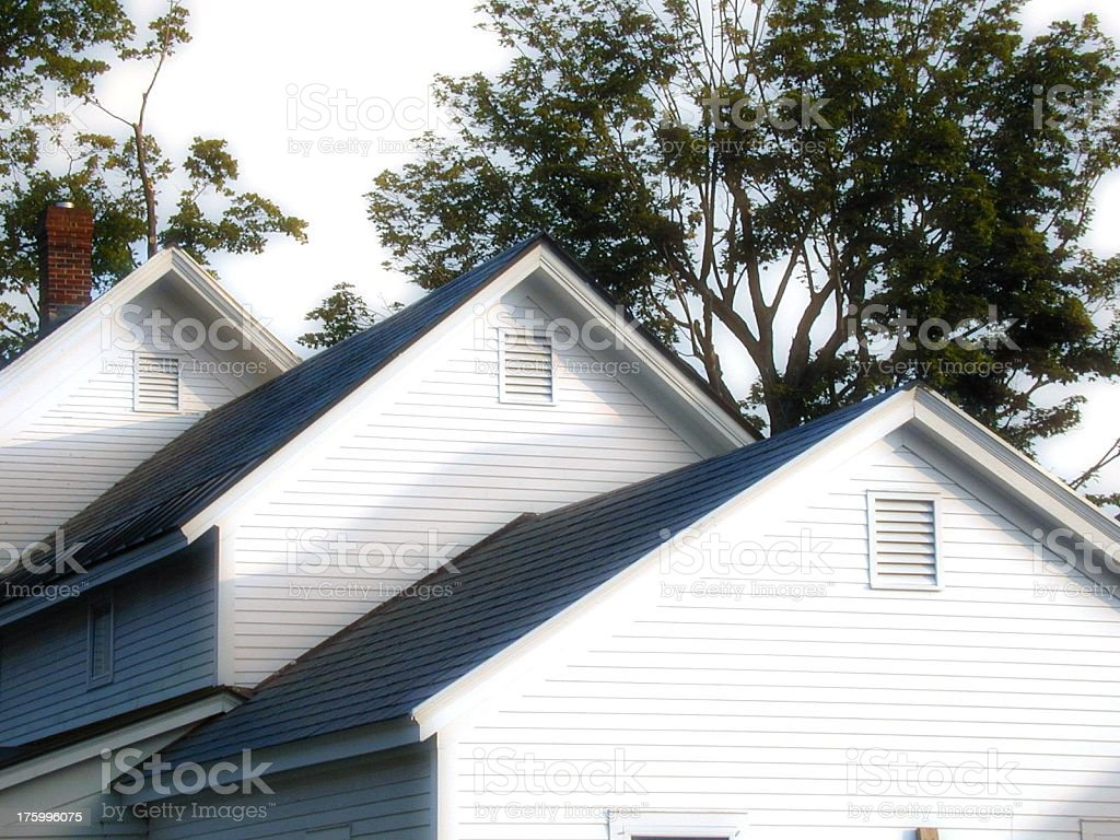 Three roofs royalty-free stock photo