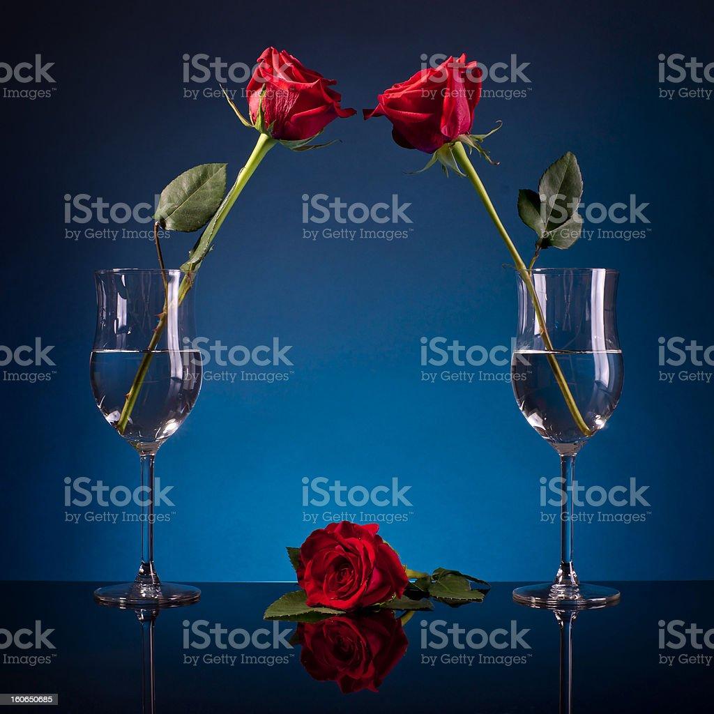 three roses royalty-free stock photo