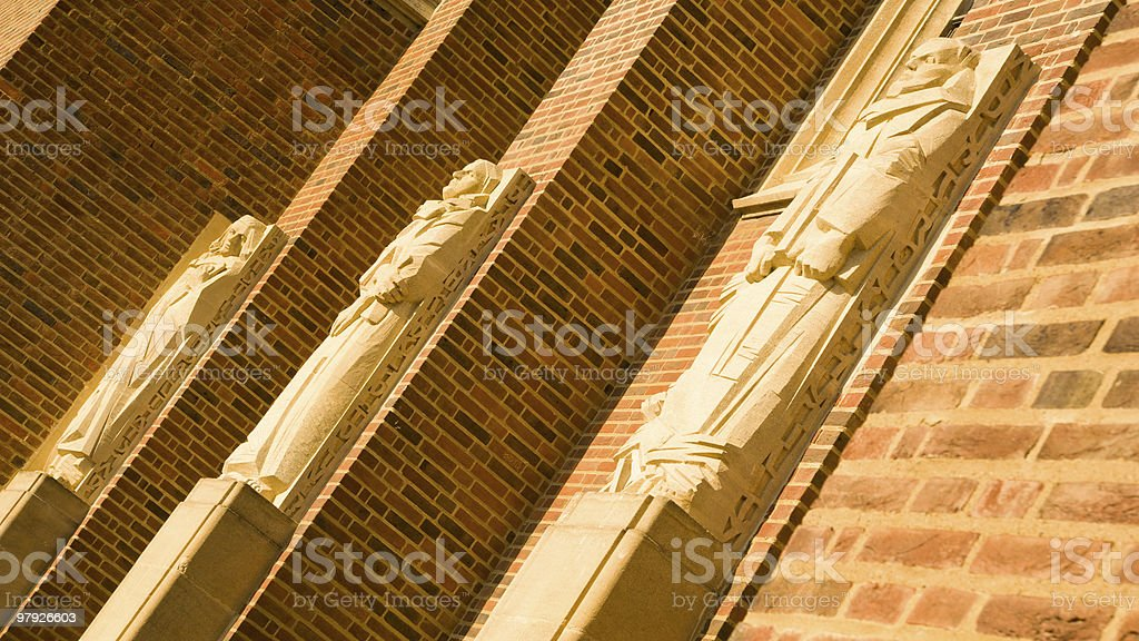 Three saints statues royalty-free stock photo