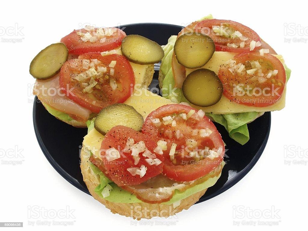 Drei Sandwiches Lizenzfreies stock-foto