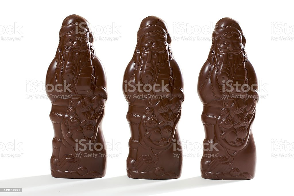 Three santas royalty-free stock photo