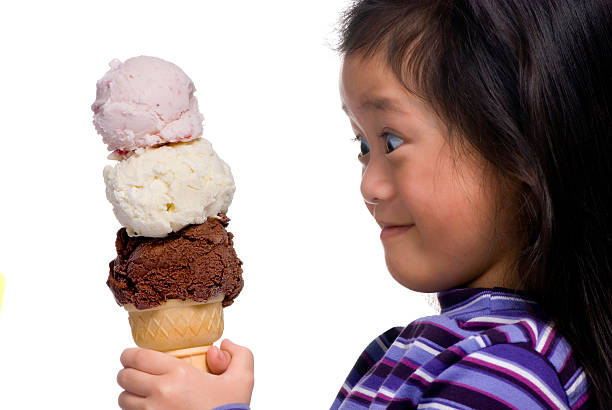 Three Scoops !!! stock photo