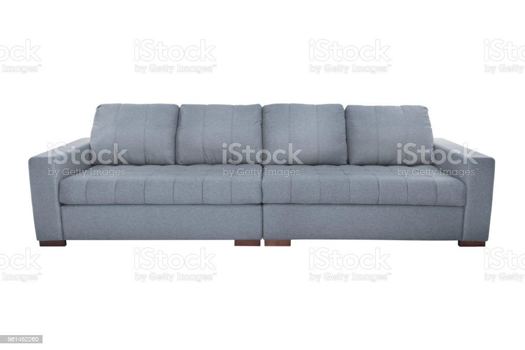 Drei Sitze Gemütliches Sofa Isoliert Auf Weißem Hintergrund
