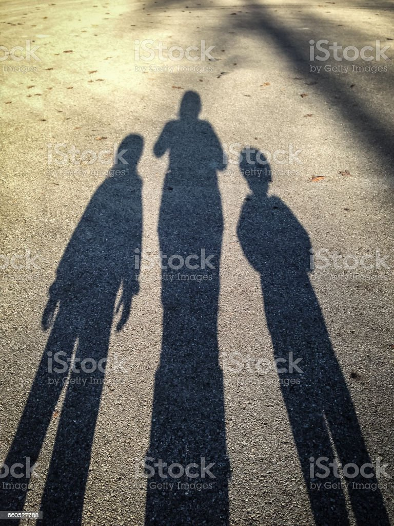 Three shadows stock photo