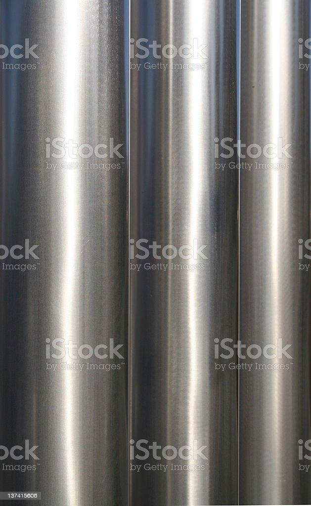 Three shiny pipes royalty-free stock photo
