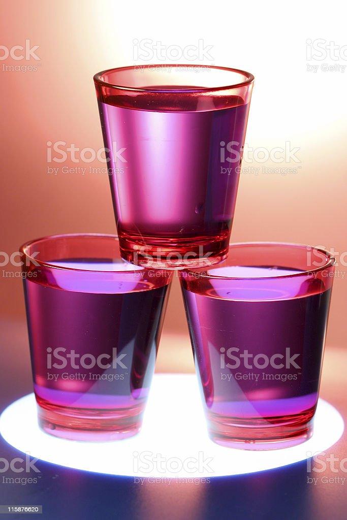 Three Shot Glasses royalty-free stock photo