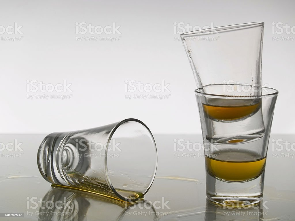 Three shots of whisky royalty-free stock photo