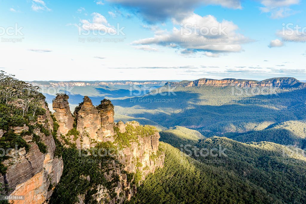 Three Sisters, Blue Mountains, Australia stock photo