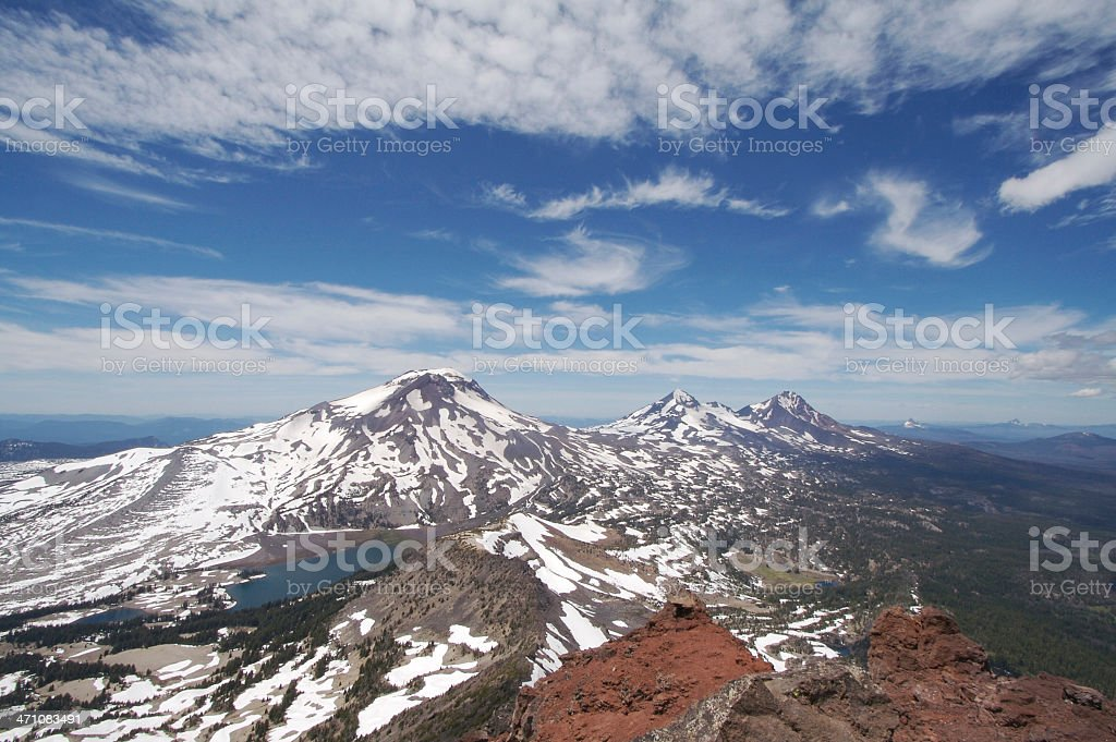 Three Sisters from Broken Top stock photo