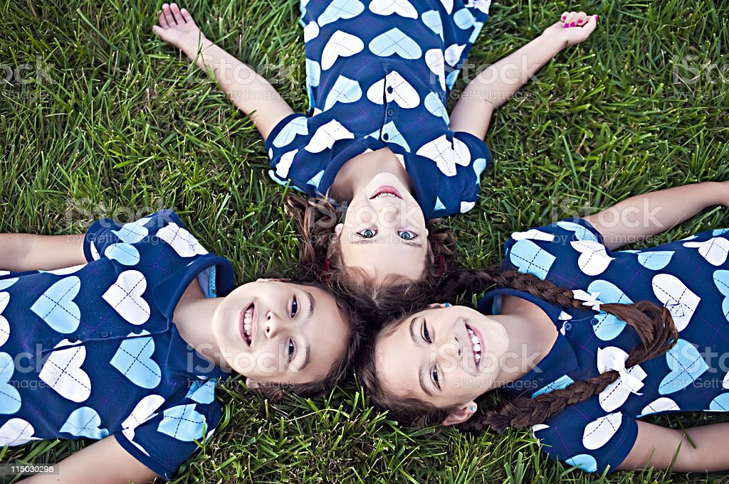 three sisters genetics royalty-free stock photo
