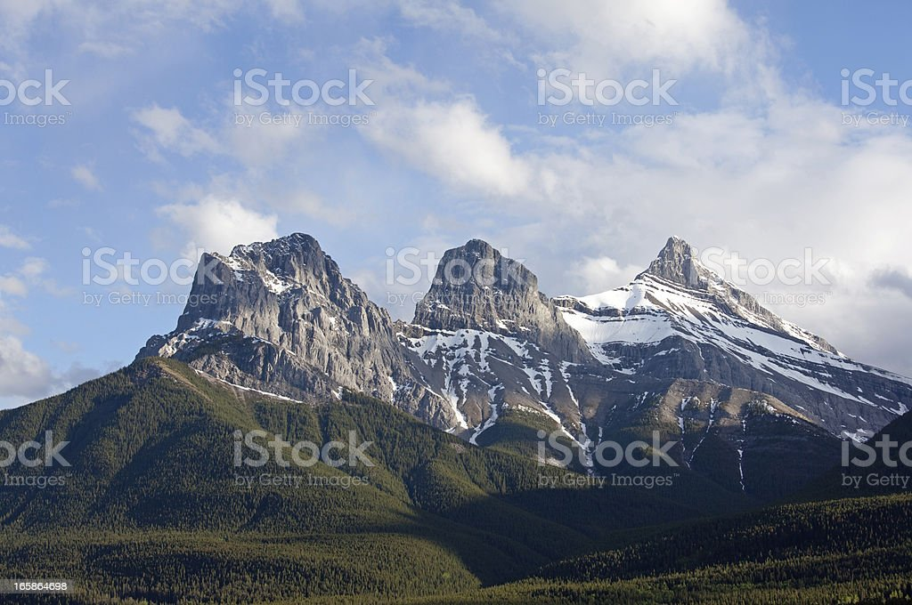 Three Sisters in Canmore royalty-free stock photo