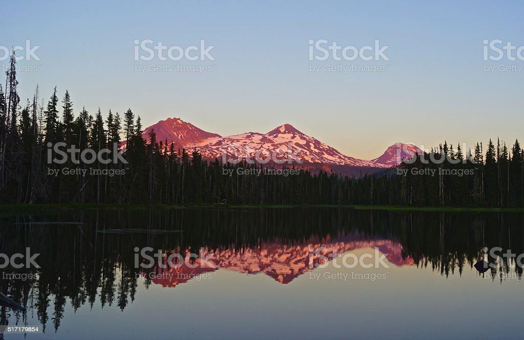 Three Sisters Lake stock photo
