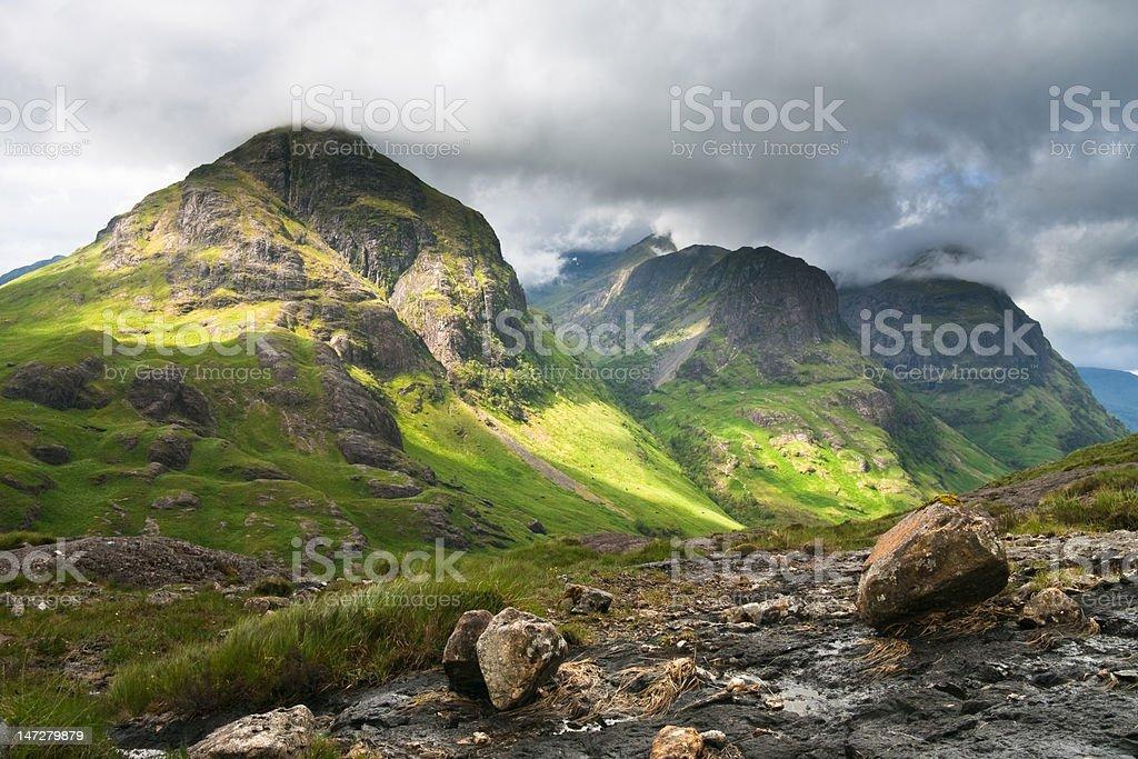 Three Sisters of Glencoe royalty-free stock photo